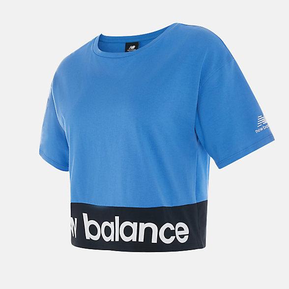 New Balance 女款针织短袖上衣, AWT03307FCB