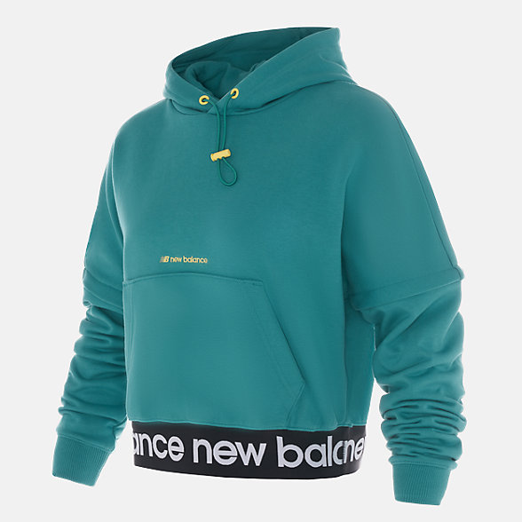 New Balance 张子枫同款女款连帽卫衣, AWT03362SEL