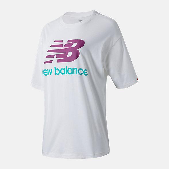New Balance 女款LOGO印花短袖T恤, AWT03519WM