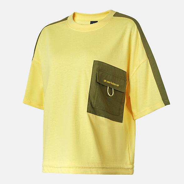 New Balance 女款休闲口袋T恤, AWT12309LHZ
