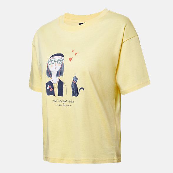 New Balance 女款印花短袖T恤, AWT12329FTL