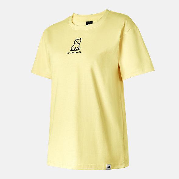 New Balance Noritake联名款女款印花短袖T恤, AWT12332CYW