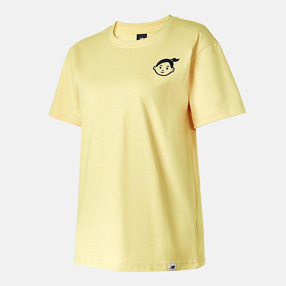 New Balance Noritake联名款女款印花短袖T恤, AWT12333CYW