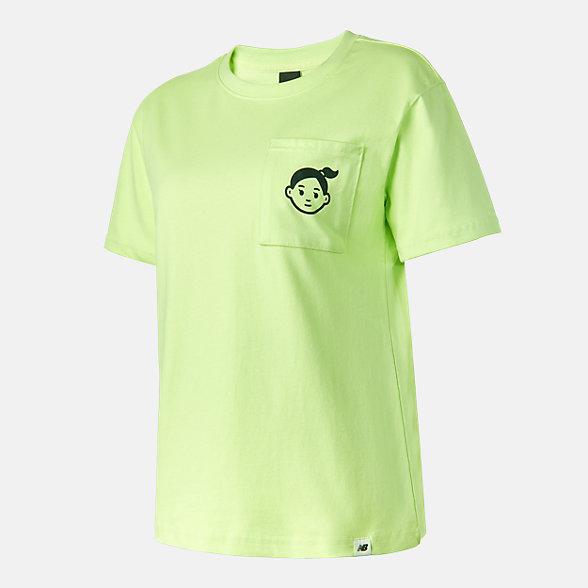 New Balance Noritake联名款女款印花短袖T恤, AWT12334LRW