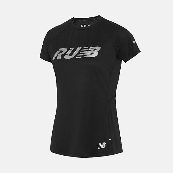 New Balance 女款运动短袖T恤, AWT81201BSI