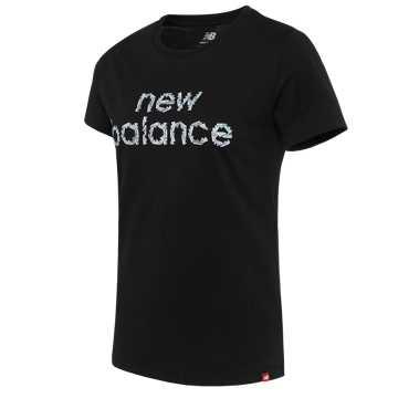 New Balance 女款短袖T恤, BK