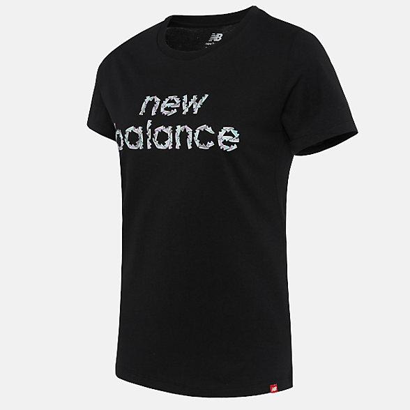 New Balance 女款短袖T恤, AWT91561BK