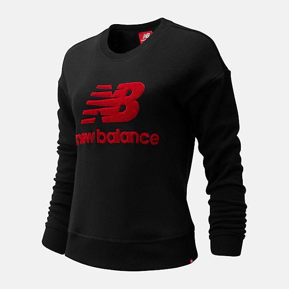 New Balance 女款休闲套头卫衣, AWT93548BK