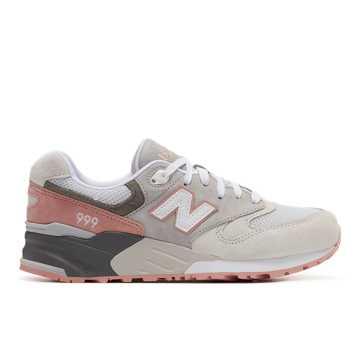 New Balance 999男女同款复古休闲鞋, ?#35013;?#33394;/桔黄色/浅灰色