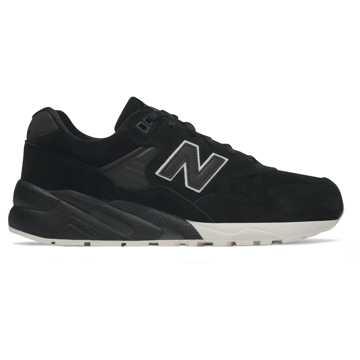 New Balance 580系列男款复古休闲运动鞋, 黑色