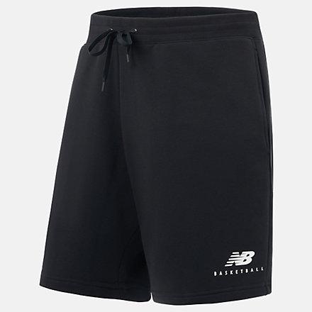 New Balance NB Basketball Blacktop Short, MS03587BK image number null