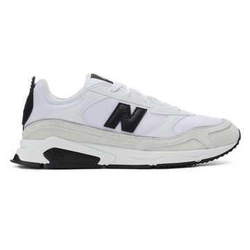 New Balance X-racer系列男女同款復古休閑運動鞋, 白色/米色