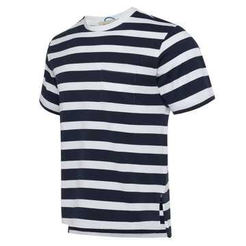 New Balance R_C2系列男款短袖T恤 条纹拼接 潮流百搭 限量发售, ECL