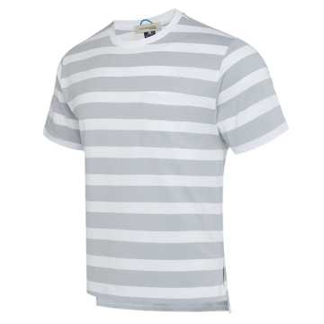 New Balance R_C2系列男款短袖T恤 条纹拼接 潮流百搭 限量发售, LAN