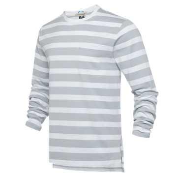 New Balance R_C2系列男款长袖T恤 条纹拼接 潮流百搭 限量发售, LAN