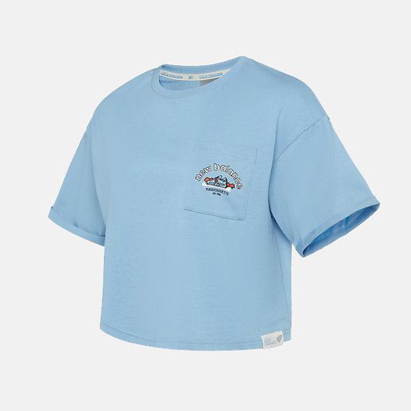 New Balance 女款休閑短袖T恤, NE925032AS