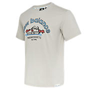 New Balance 男款印花休闲短袖T恤, BEI