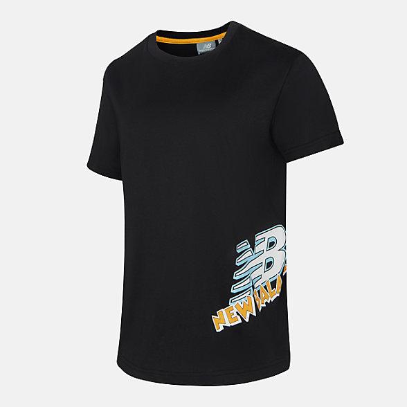 New Balance 女款字母印花短袖T恤, NEA23022BK