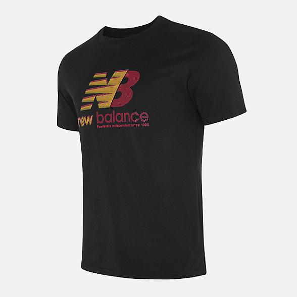 New Balance 男款印花短袖T恤, NEA33011BK