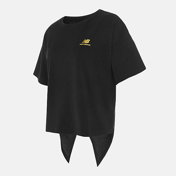 New Balance 女款简约休闲短袖T恤, NEA33012BK