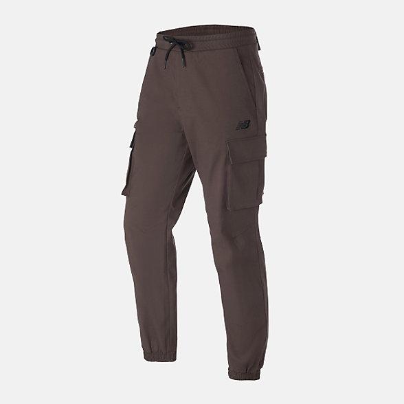 New Balance 男款多口袋休闲梭织长裤, NTA13011BWN