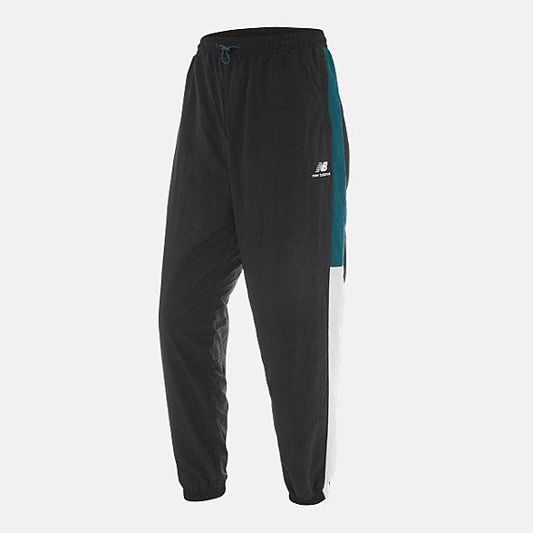 New Balance 男款条纹撞色休闲裤, NTA33011BK