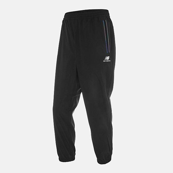 New Balance 男款束脚休闲梭织长裤, NTA33021BK