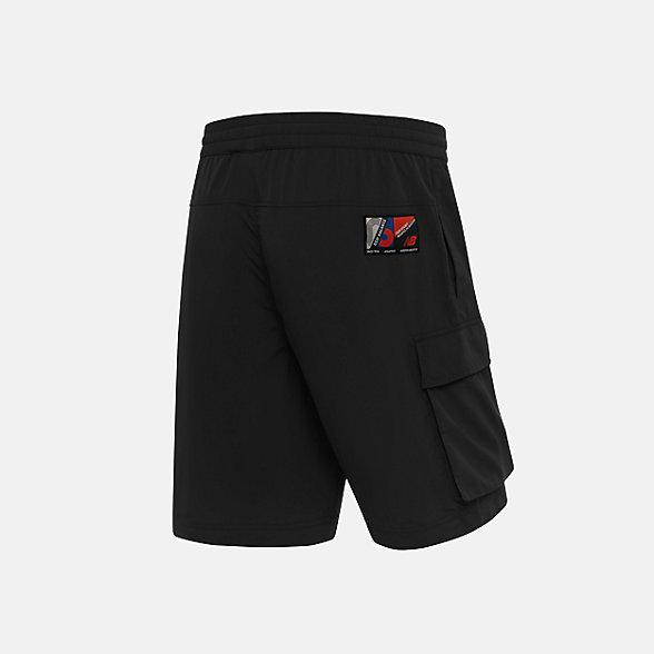 New Balance 男款休闲梭织短裤, NV923031BK