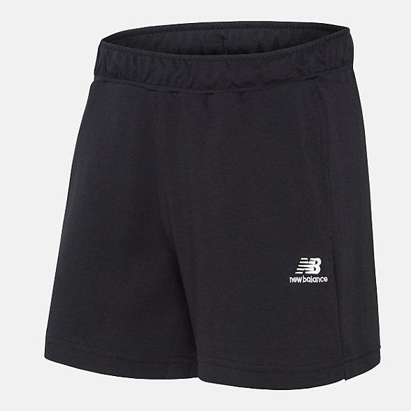 New Balance 女款休闲针织短裤, NVA23022BK