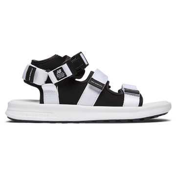 New Balance 750系列男女同款休闲凉鞋, 白色/黑色