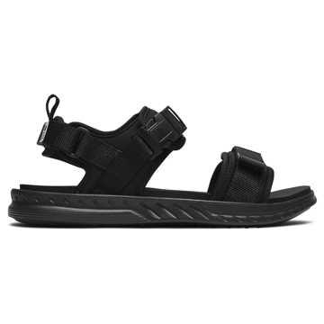 New Balance 800系列男女同款休闲凉鞋, 黑色