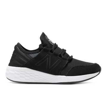 New Balance EVA联名款CRUZ系列男女同款跑步鞋 炫彩时尚 稳定缓震, 黑色