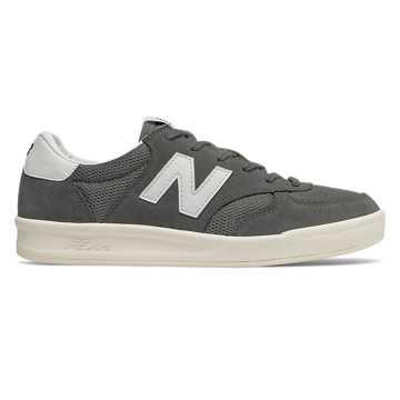 New Balance CRT300系列男女同款板鞋 轻量中底 简洁配色, 深灰色
