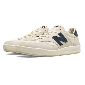 New Balance CRT300复古鞋 中性款 轻量中底 经典配色, 米白色/蓝色