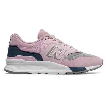 New Balance 997H系列女款复古休闲鞋, 粉色/灰色
