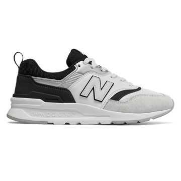 New Balance 997H女款复古休闲运动鞋 轻质舒适  , 白色/黑色