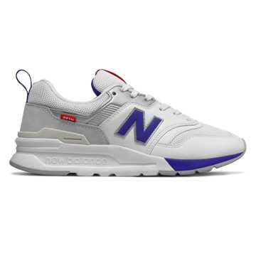 New Balance 997H, White with UV Blue
