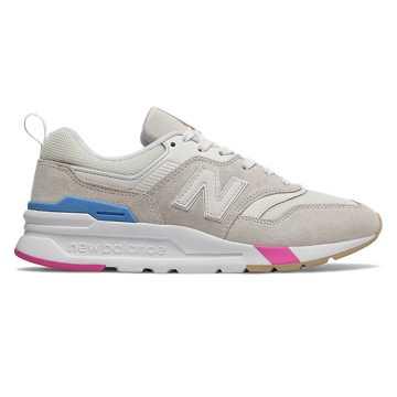 New Balance 997H系列女款复古休闲运动鞋, 米色