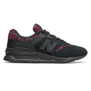 New Balance 997H, Black with Scarlet