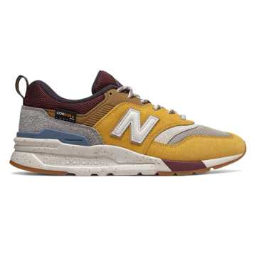 New Balance 997H, Varsity Gold with Dragon Fruit