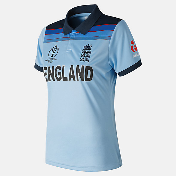 NB We Are England WC19 ODI SS Polo Replica Woman, CWT9014BL
