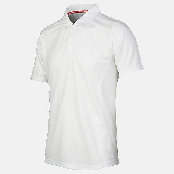 New Balance Cricket Short Sleeve Polo, EMT7019WT
