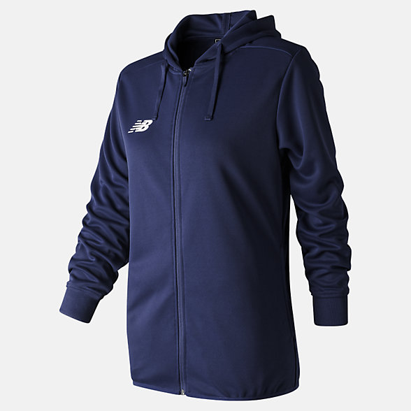 New Balance Teamwear Training Hoodie - Full Zip, EWJ7083NV