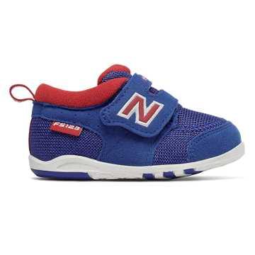 New Balance 123系列儿童魔术贴休闲运动鞋 舒适耐磨, 蓝色