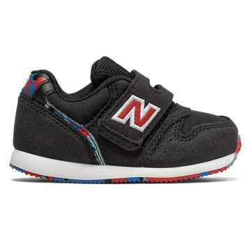 New Balance 996系列儿童魔术贴休闲运动鞋 舒适耐磨, 黑色