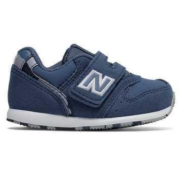 New Balance 996系列儿童魔术贴休闲运动鞋 舒适耐磨, 蓝灰色