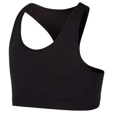 New Balance Seamless Racerback Sports Bra, Black