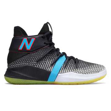 New Balance Kids OMN1S, Black with Sulphur Yellow & Energy Red