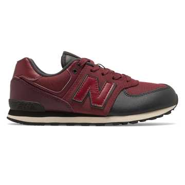 New Balance 574 Backpack, Burgundy with Black
