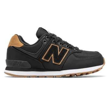 New Balance 574 Backpack, Black with Brown Sugar